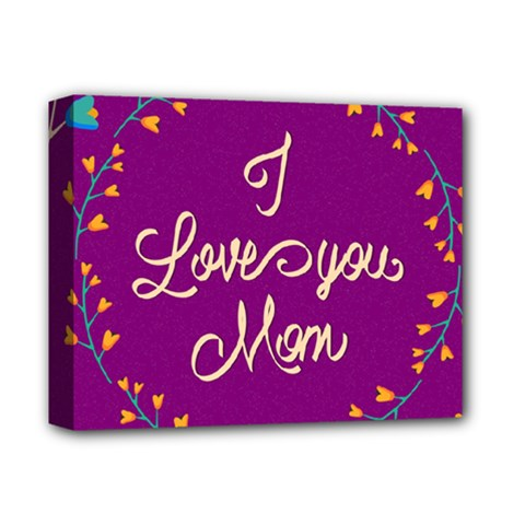 Happy Mothers Day Celebration I Love You Mom Deluxe Canvas 14  x 11