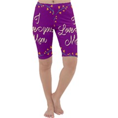 Happy Mothers Day Celebration I Love You Mom Cropped Leggings