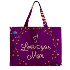 Happy Mothers Day Celebration I Love You Mom Zipper Mini Tote Bag