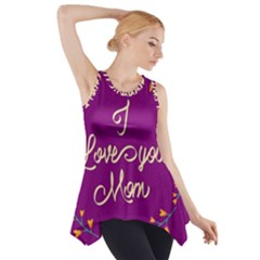 Happy Mothers Day Celebration I Love You Mom Side Drop Tank Tunic