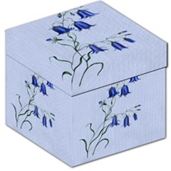 Floral Blue Bluebell Flowers Watercolor Painting Storage Stool 12