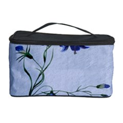 Floral Blue Bluebell Flowers Watercolor Painting Cosmetic Storage Case