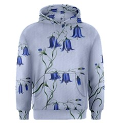 Floral Blue Bluebell Flowers Watercolor Painting Men s Pullover Hoodie