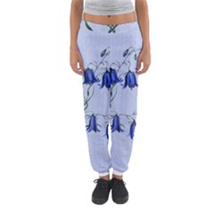 Floral Blue Bluebell Flowers Watercolor Painting Women s Jogger Sweatpants