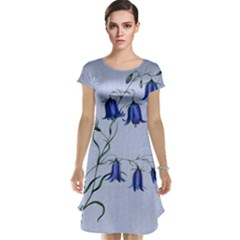 Floral Blue Bluebell Flowers Watercolor Painting Cap Sleeve Nightdress