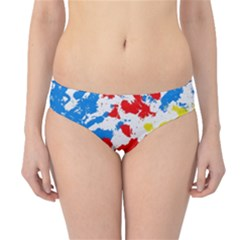 Paint Splatter Digitally Created Blue Red And Yellow Splattering Of Paint On A White Background Hipster Bikini Bottoms