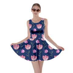 Watercolour Flower Pattern Skater Dress