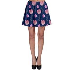 Watercolour Flower Pattern Skater Skirt