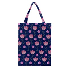 Watercolour Flower Pattern Classic Tote Bag