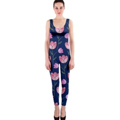 Watercolour Flower Pattern Onepiece Catsuit