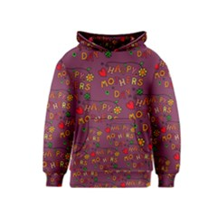 Happy Mothers Day Text Tiling Pattern Kids  Pullover Hoodie