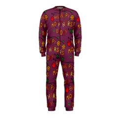 Happy Mothers Day Text Tiling Pattern OnePiece Jumpsuit (Kids)