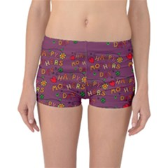 Happy Mothers Day Text Tiling Pattern Reversible Bikini Bottoms