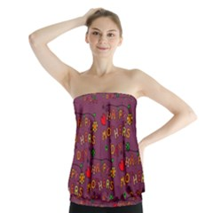 Happy Mothers Day Text Tiling Pattern Strapless Top