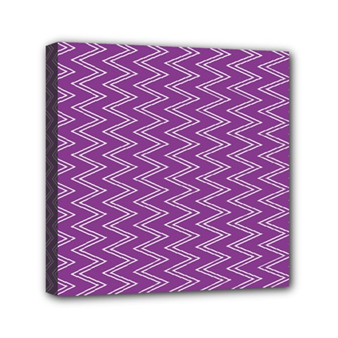 Purple Zig Zag Pattern Background Wallpaper Mini Canvas 6  x 6