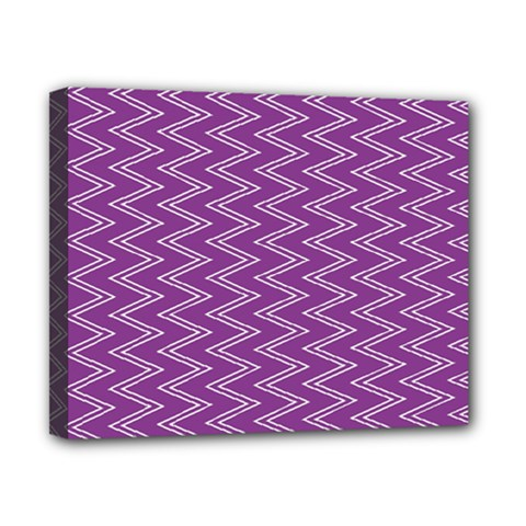 Purple Zig Zag Pattern Background Wallpaper Canvas 10  x 8