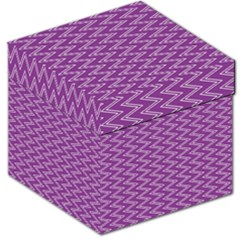 Purple Zig Zag Pattern Background Wallpaper Storage Stool 12