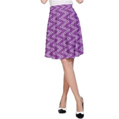 Purple Zig Zag Pattern Background Wallpaper A Line Skirt