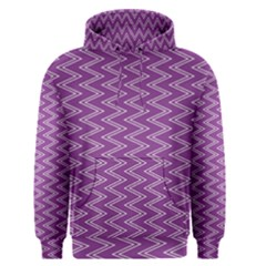 Purple Zig Zag Pattern Background Wallpaper Men s Pullover Hoodie