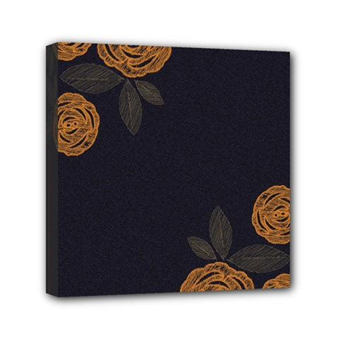Floral Roses Seamless Pattern Vector Background Mini Canvas 6  x 6