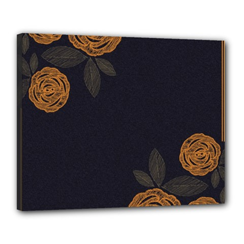 Floral Roses Seamless Pattern Vector Background Canvas 20  x 16