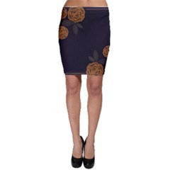 Floral Roses Seamless Pattern Vector Background Bodycon Skirt