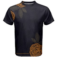 Floral Roses Seamless Pattern Vector Background Men s Cotton Tee