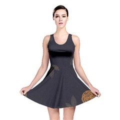 Floral Roses Seamless Pattern Vector Background Reversible Skater Dress