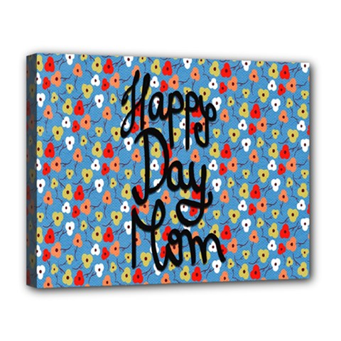 Happy Mothers Day Celebration Canvas 14  x 11