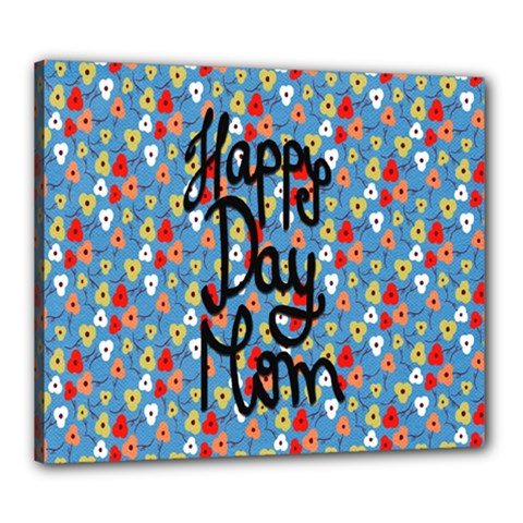 Happy Mothers Day Celebration Canvas 24  x 20