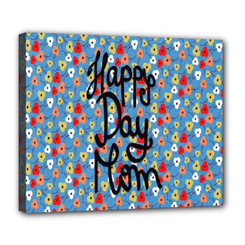 Happy Mothers Day Celebration Deluxe Canvas 24  x 20