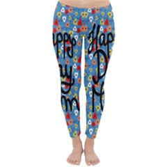 Happy Mothers Day Celebration Classic Winter Leggings