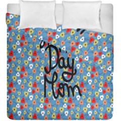 Happy Mothers Day Celebration Duvet Cover Double Side (king Size)