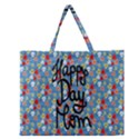 Happy Mothers Day Celebration Zipper Large Tote Bag View1