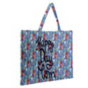 Happy Mothers Day Celebration Zipper Large Tote Bag View2