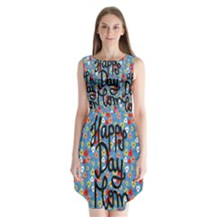 Happy Mothers Day Celebration Sleeveless Chiffon Dress