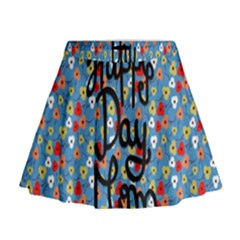 Happy Mothers Day Celebration Mini Flare Skirt