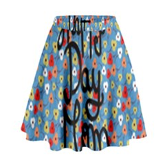 Happy Mothers Day Celebration High Waist Skirt