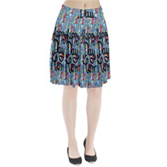 Happy Mothers Day Celebration Pleated Skirt