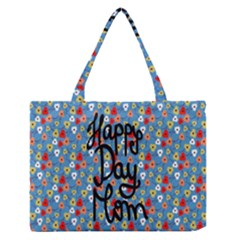 Happy Mothers Day Celebration Medium Zipper Tote Bag