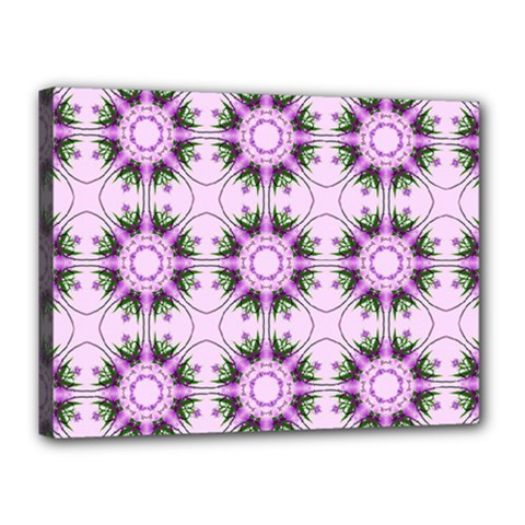 Pretty Pink Floral Purple Seamless Wallpaper Background Canvas 16  X 12