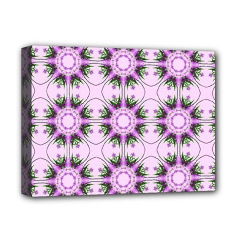 Pretty Pink Floral Purple Seamless Wallpaper Background Deluxe Canvas 16  x 12
