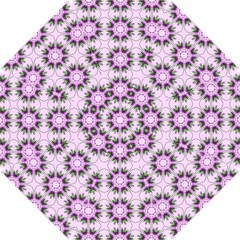 Pretty Pink Floral Purple Seamless Wallpaper Background Hook Handle Umbrellas (Small)