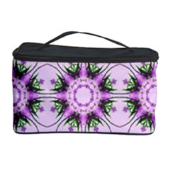Pretty Pink Floral Purple Seamless Wallpaper Background Cosmetic Storage Case