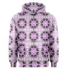 Pretty Pink Floral Purple Seamless Wallpaper Background Men s Zipper Hoodie
