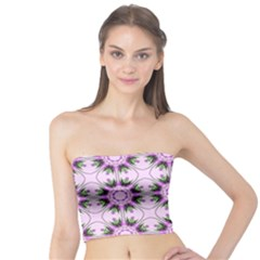 Pretty Pink Floral Purple Seamless Wallpaper Background Tube Top
