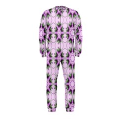 Pretty Pink Floral Purple Seamless Wallpaper Background OnePiece Jumpsuit (Kids)