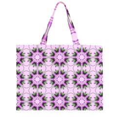 Pretty Pink Floral Purple Seamless Wallpaper Background Large Tote Bag