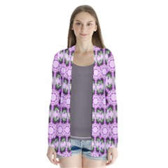 Pretty Pink Floral Purple Seamless Wallpaper Background Cardigans