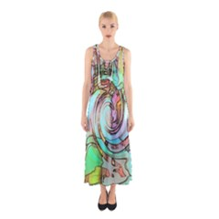 Art Pattern Sleeveless Maxi Dress